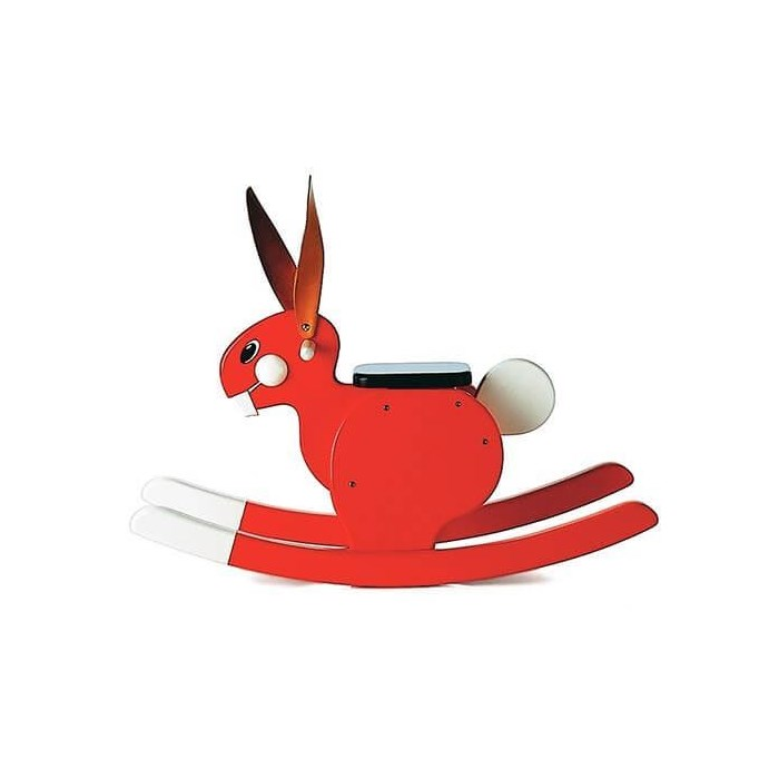 Picture of Rocking Rabbit Red
