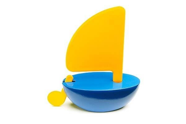 Picture of Sailboat Yellow/Blue