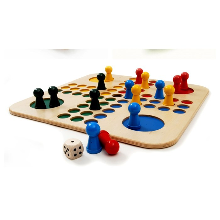 big wooden ludo game